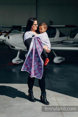 Żakardowa chusta kółkowa do noszenia dzieci, bawełna, ramię bez zakładek - DOOKOŁA ŚWIATA