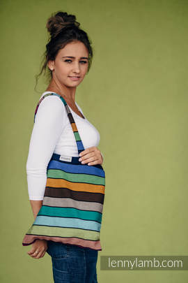 Shopping bag made of wrap fabric (100% cotton) - CAROUSEL OF COLORS