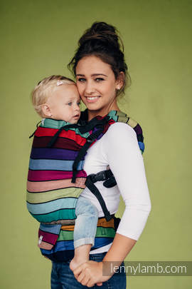LennyUp Carrier, Standard Size, broken-twill weave 100% cotton - wrap conversion from CAROUSEL OF COLORS