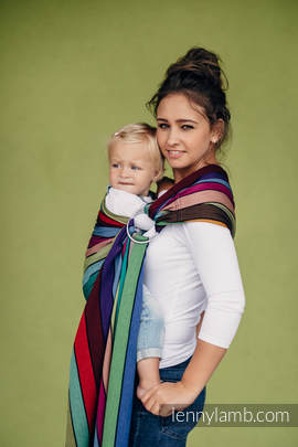 Ring Sling - 100% Cotton - Broken Twill Weave, with gathered shoulder - CAROUSEL OF COLORS (grade B)