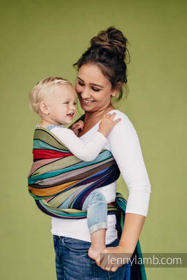 Baby Sling, Broken Twill Weave, (100% cotton) - CAROUSEL OF COLORS - size XS
