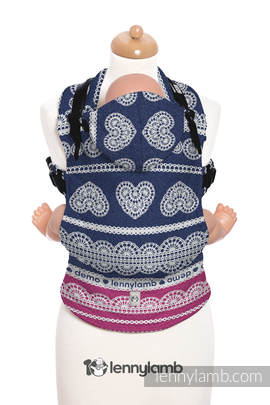 Ergonomic Carrier, Baby Size, jacquard weave 100% cotton - wrap conversion from FOR PROFESSIONAL USE EDITION - LACE 1.0, Second Generation