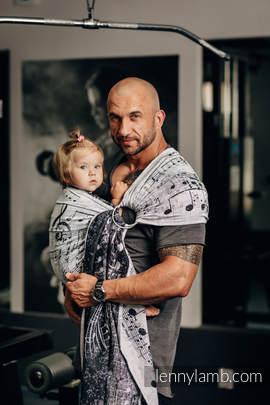 Żakardowa chusta kółkowa do noszenia dzieci, bawełna - SYMFONIA KLASYCZNA