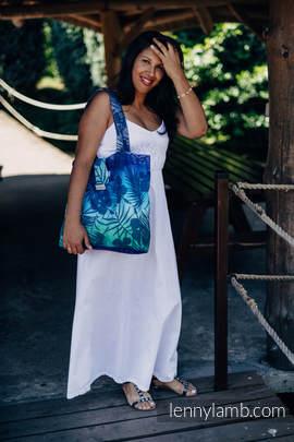 Shoulder bag made of wrap fabric (100% cotton) - HIDDEN VALLEY - standard size 37cm x 37cm