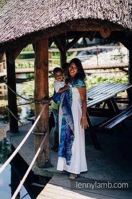 Żakardowa chusta kółkowa do noszenia dzieci, 100% bawełna, ramię bez zakładek - TAJEMNICZA DOLINA