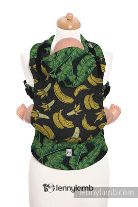 Ergonomic Carrier, Baby Size, jacquard weave - 100% cotton - TUTTI FRUTTI - BRAVE BANANA - Second Generation