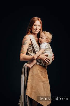 Żakardowa chusta do noszenia dzieci - (49% bawełna, 51% jedwab) - SAFARI - PUSTYNIA ZACHODNIA - rozmiar M