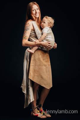 Żakardowa chusta do noszenia dzieci - (49% bawełna, 51% jedwab) - SAFARI - PUSTYNIA ZACHODNIA - rozmiar S