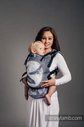 Nosidełko LennyUp z tkaniny żakardowej 100% bawełna , rozmiar standard, ORZEŁ W ŚWIETLE KSIĘŻYCA