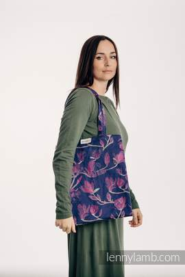 Shopping bag made of wrap fabric (100% cotton) - THE SECRET MAGNOLIA