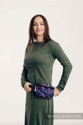 Waist Bag made of woven fabric, (100% cotton) - THE SECRET MAGNOLIA