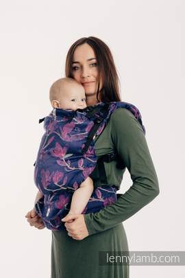 LennyUp Carrier, Standard Size, jacquard weave 100% cotton - wrap conversion from THE SECRET MAGNOLIA