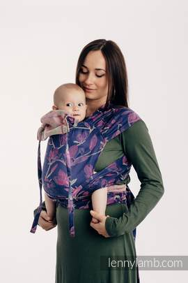 WRAP-TAI carrier Mini with hood, jacquard weave, 100% cotton - THE SECRET MAGNOLIA
