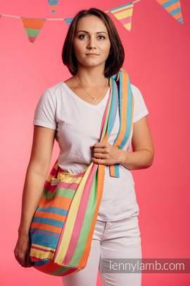 Hobo Bag made of woven fabric, 60% cotton 40% bamboo - PINACOLADA