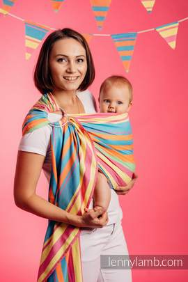 Ring Sling, Broken Twill Weave (bamboo + cotton) - Pinacolada (grade B)