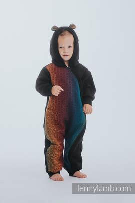 Bear Romper - size 86 - Black & Big Love Rainbow Dark