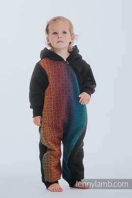 Babyanzug - Größe 80 - Schwarz  mit  Big Love - Rainbow Dark