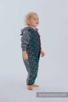 Babyanzug - Größe 80 - Jeans mit Trinity Cosmos
