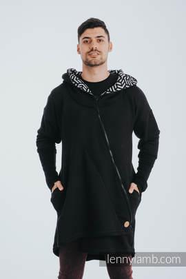 Asymetryczna Bluza - Czarna z Hematytem - rozmiar 4XL