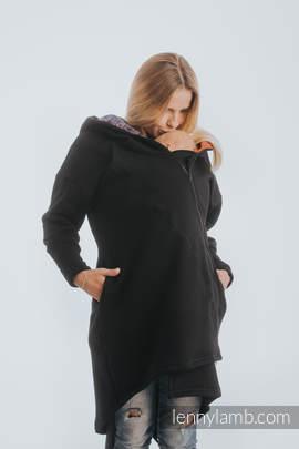 Asymetryczna Bluza - Czarna z Symfonią Tęczą Dark - rozmiar 5XL