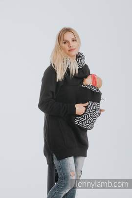 Babywearing Sweatshirt 3.0 - Black with Hematite - size 3XL