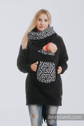 Babywearing Sweatshirt 3.0 - Black with Hematite - size 5XL