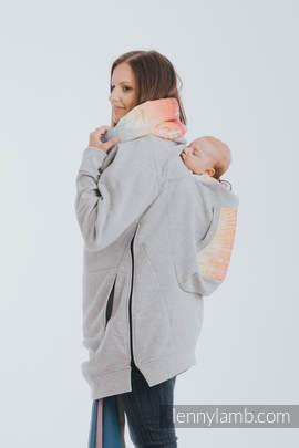 Babywearing Sweatshirt 3.0 - Gray Melange with Symphony Rainbow Light - size 3XL