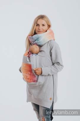 Babywearing Sweatshirt 3.0 - Gray Melange with Symphony Rainbow Light - size M