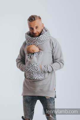 Babywearing Sweatshirt 3.0 - Gray Melange with Pearl - size 4XL