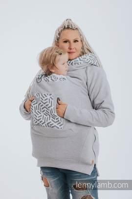 Babywearing Sweatshirt 3.0 - Gray Melange with Pearl - size 3XL