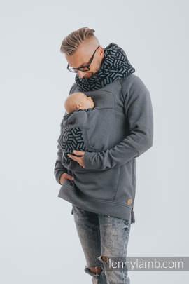 Babywearing Sweatshirt 3.0 - Jeans with Kyanit - size L