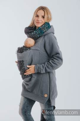 Babywearing Sweatshirt 3.0 - Jeans with Trinity Cosmos - size 5XL