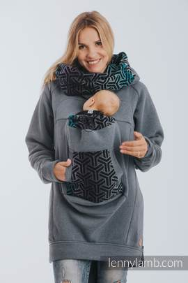 Babywearing Sweatshirt 3.0 - Jeans with Trinity Cosmos - size XXL