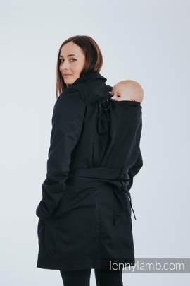 Babywearing trench coat - size S - Black
