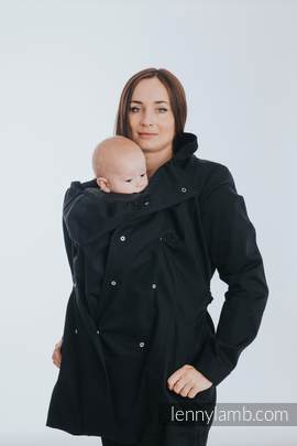 Babywearing trench coat - size XL - Black (grade B)