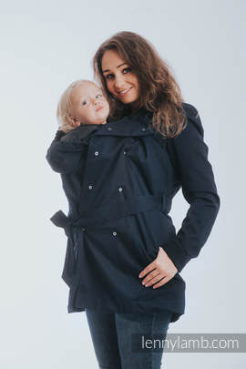 Babywearing trench coat - size 5XL - Navy Blue