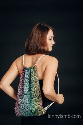 Plecak/worek - 100% bawełna - WOLNY DUCH - rozmiar uniwersalny 32cm x 43cm