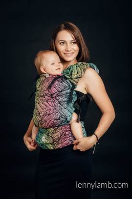 LennyUp Carrier, Standard Size, jacquard weave 100% cotton - wrap conversion from WILD SOUL
