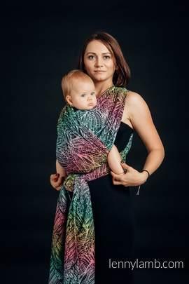 Żakardowa chusta do noszenia dzieci, 100% bawełna - WOLNY DUCH - rozmiar  XS