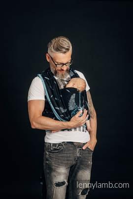 Baby Wrap, Jacquard Weave (100% cotton) - WINGED GUITARS - size M