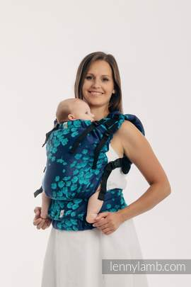 LennyUp Carrier, Standard Size, jacquard weave 100% cotton - wrap conversion from FINESSE - TURQUOISE CHARM