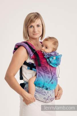 Ergonomic Carrier, Baby Size, jacquard weave 100% cotton - wrap conversion from DRAGONFLY- FAREWELL TO THE SUN - Second Generation