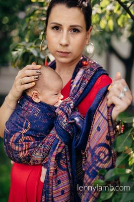 Baby Wrap, Jacquard Weave (100% cotton) - SYMPHONY CONFERENCE - size XS