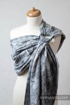 Ringsling, Jacquard Weave (60% cotton 40% bamboo) - GALLEONS BLACK  & WHITE