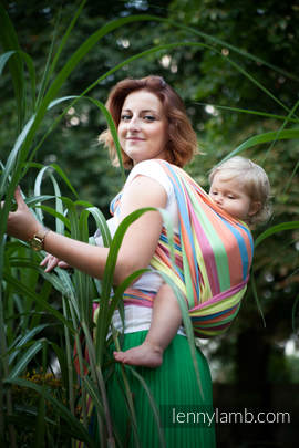 Baby Sling, Broken Twill Weave (bamboo + cotton) - Pinacolada - size M