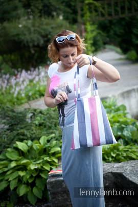 Shopping bag made of wrap fabric (60% cotton, 40% bamboo) - MARINE