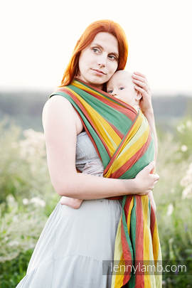 Baby Sling, Broken Twill Weave (100% Cotton) - INDIAN SUMMER - size XL