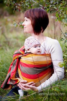 Chusta kółkowa do noszenia dzieci, tkana splotem skośno-krzyżowym  - bawełniana - Jesień