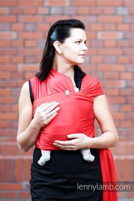 Chusta do noszenia dzieci, elastyczna - Rubinowa - rozmiar standardowy 5.0 m