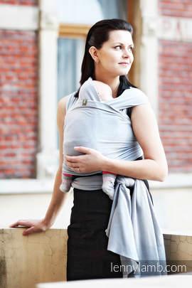 Chusta do noszenia dzieci, elastyczna - Akwamaryna - rozmiar standardowy 5.0 m
